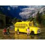 Trenes Escala Ho Autobús Escolar Con Figuras De 4 Niños
