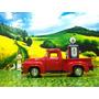 Kf Auto A Escala 1/43 Camioneta Ford Y Bomba Gasolina 1950