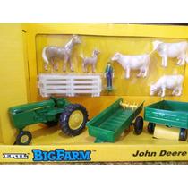 Set Ertl Figuras Maquinaria Rancho Granja Caballos Tractor