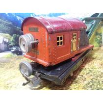 L53 Trenes Escala O Lionel Vagon Grua Metalica Muy Antigua