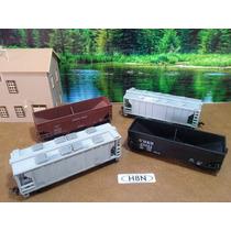 H8n Trenes Escala Ho Set 4 Vagones De Carga X Pza O X Set