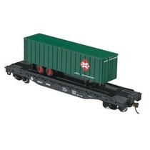 Vagón Con Trailer B&o Railway Express, Escala Ho, Bachmann