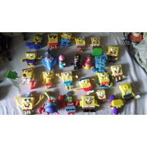 Coleccion De 25 Muñecos Bob Esponja Decoracion 7cm