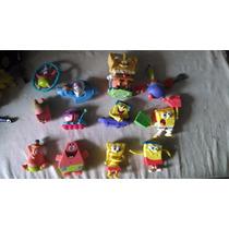 Coleccion De 12 Muñecos Bob Esponja Decoracion 7cm