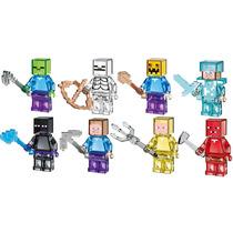 Set Completo Frozen Cristal Minecraft Minifiguras Para Armar