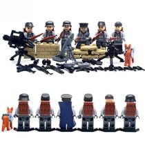 Soldados Segunda Guerra Mundial Mortero Compatibles Con Lego
