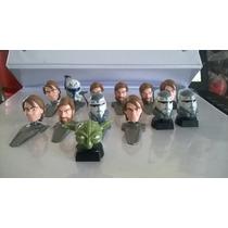 Star Wars - Mini Cabezones - Obi Wan, Anakin Skywalker
