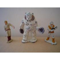 3 Mini Figuras Fierro Star Wars1982 Vintage Miden 3 -5 Cms