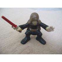 2008 Hasbro Star Wars Galactic Heroes Obi Wan Red Lightsaber