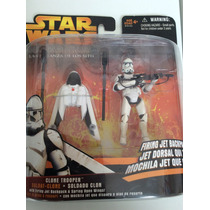Clone Trooper And Jet Backpack Deluxe - Revenge Of The Sith