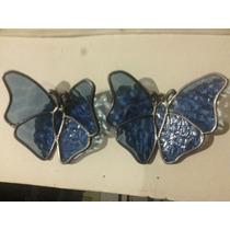 Mariposas Vitral Emplomado, Decoración Vidrio Y Estaño
