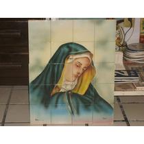 Imagen Religiosa Artesanal Pintada A Mano En Ceramica 20 Pz