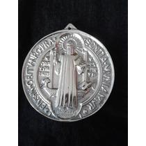 Medallon Milagroso De San Benito Aluminio Pewter Artesanal