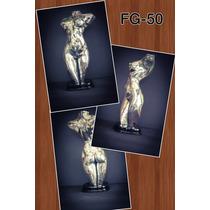 Escultura De Mujer Plata 999 Electroformado Envio Incluido
