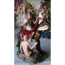 San Martin Caballero 20cm Resina Fina!