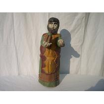 Antiguo Santo De Madera Folk Art Arte Sacro De Galeria