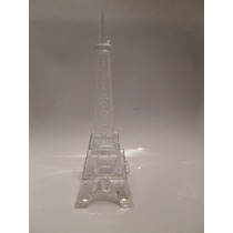 Torre Eiffel Vidrio !!!! 19.5 Cm Grabado Paris Grande