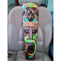 Mascaras Tipo Africanas Con Grabados Mayas Calidad Premium!!