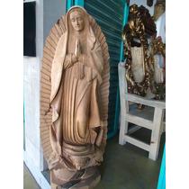 Virgen De Guadalupe En Madera De Mezquite