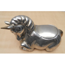 Unicornio De Latón Niquelado Con Compartimiento