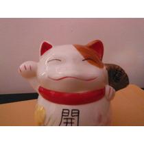 Figura Oriental Maneki Neko Gato Suerte Y Fortuna Souvenir