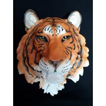 Cabeza De Animal De Tigre Siberiano En Resina Gmfr016