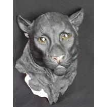 Cabeza De Animal De Pantera Decorativa En Resina Gmfr018