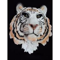 Cabeza De Animal De Tigre De Bengala En Resina Gmfr015