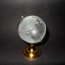 Esfera Globo Terraqueo Cristal Feng Shui 8 Cm Grande