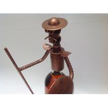 Tapa Quijote Para Botellas Color Cobre / De Metal / Fierro