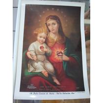 Hoja Tipo Poster Cuadro Inmaculado Corazón De Maria 22x32