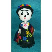 Frida Kahlo Muñeca Artesanal Tipo Catrina Varios Tamaños