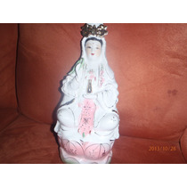 Diosa China Kuan Yin Figura De Porcelana