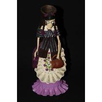 Catrina Tradicional Mexicana De Barro Excelente Calidad 36cm