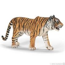 Tigre De Bengala Schleich, Replica Original Pintado A Mano