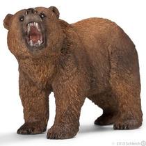 Oso Grizzly Schleich, Replica Original Pintado A Mano