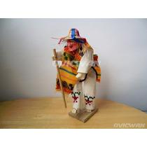 Figura De Madera Baile Danza De Los Viejitos Michoacán Vt57