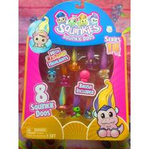 Set De Serie 14 Figuras Squinkies Miniatura Con Pelo