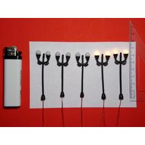 5 Lámparas Ovales Dobles Ho 1:100 Maquetas Arquitectura Tren