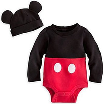 Disney Store De Mickey Mouse Del Traje Del Mono Con Capucha