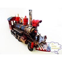 Tren Locomotora Viejo Escala Vintage Retro Metal