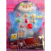 Hombre Arana Spiderman Squinkies Figuras Miniatura