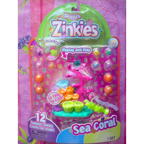 Squinkies Zinkies Figuras Miniatura Set De Coral Del Oceano