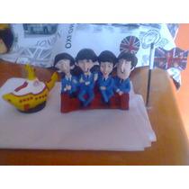 The Beatles Sillón,submarino,banderita De Resina