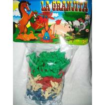 Gcg Lote De Animales De La Granja Plastico Retro