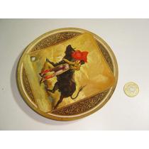 Antiguo Plato Con Pintura Al Óleo Toros Tauromaquia
