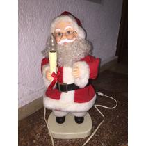Santa Claus Animado Y Con Lámpara 50x21x17cm