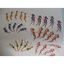 Pkt De 30 Figuras Hadas En Oblea Comestible, Envío Incluido
