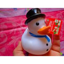 Figura De Pato Disfrazado De Mono De Nieve De Navidad