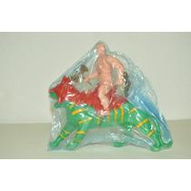 Figura Bootleg De He-man Y Battle Cat De Plastico Soplado